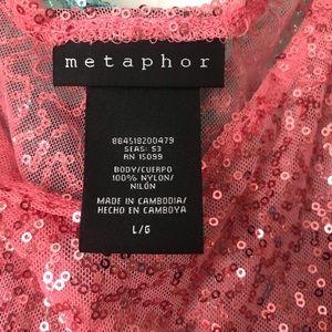 Metaphor Dresses - Babydoll sequin slip dress matching set of three